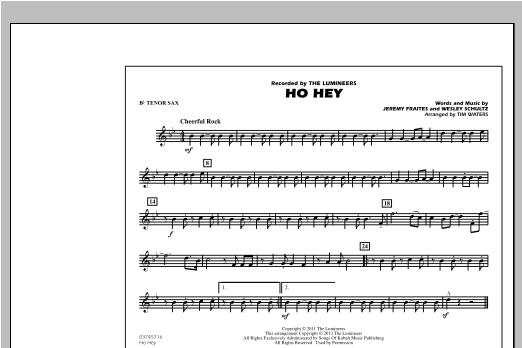 Ho Hey - Bb Tenor Sax Sheet Music
