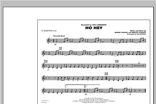 Ho Hey - Eb Baritone Sax Sheet Music