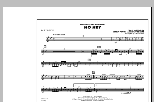 Ho Hey - 1st Bb Trumpet Sheet Music