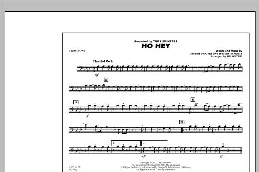 Ho Hey - Trombone Sheet Music