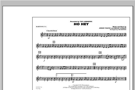 Ho Hey - Baritone T.C. Sheet Music