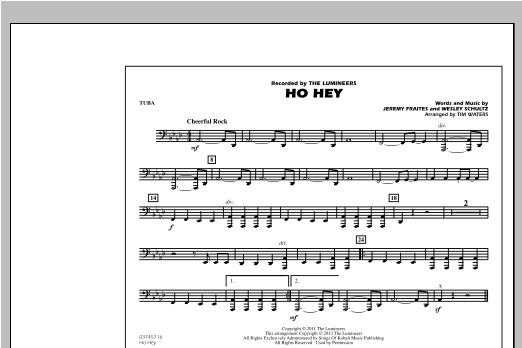 Ho Hey - Tuba Sheet Music