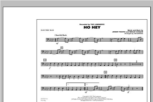 Ho Hey - Electric Bass Sheet Music