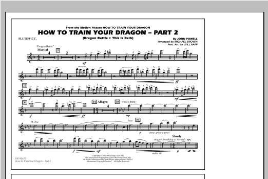 How To Train Your Dragon Part 2 - Flute/Piccolo Sheet Music