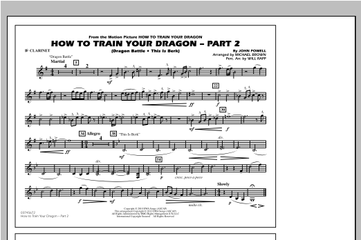 How To Train Your Dragon Part 2 - Bb Clarinet Sheet Music