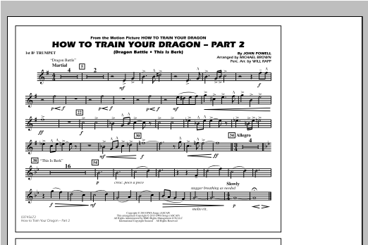 How To Train Your Dragon Part 2 - 1st Bb Trumpet Sheet Music