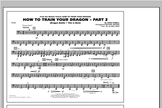 How To Train Your Dragon Part 2 - Tuba Sheet Music