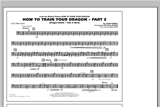 How To Train Your Dragon Part 2 - Electric Bass Sheet Music