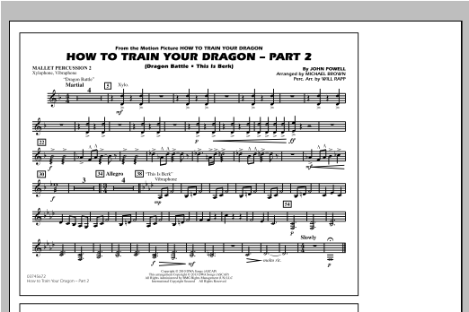 How To Train Your Dragon Part 2 - Mallet Percussion 2 Sheet Music