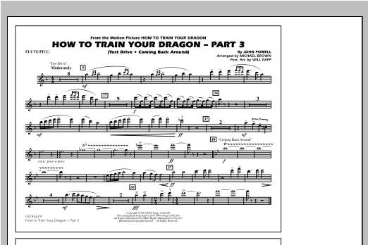 How To Train Your Dragon Part 3 - Flute/Piccolo Sheet Music