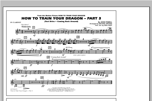 How To Train Your Dragon Part 3 - Bb Clarinet Sheet Music