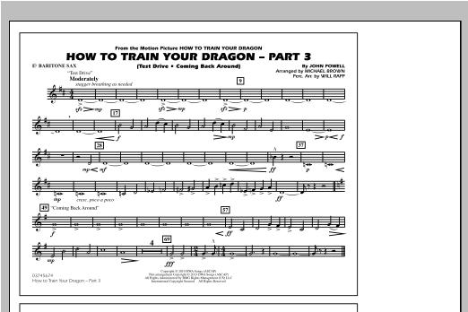 How To Train Your Dragon Part 3 - Eb Baritone Sax Sheet Music
