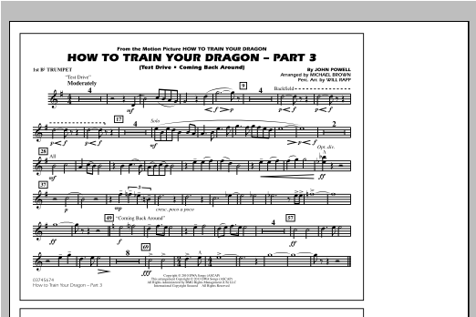How To Train Your Dragon Part 3 - 1st Bb Trumpet Sheet Music
