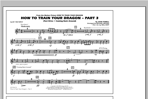 How To Train Your Dragon Part 3 - 2nd Bb Trumpet Sheet Music