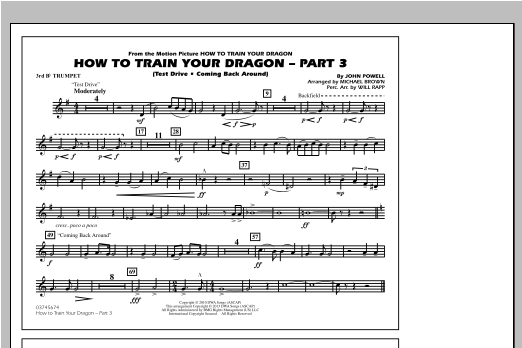 How To Train Your Dragon Part 3 - 3rd Bb Trumpet Sheet Music