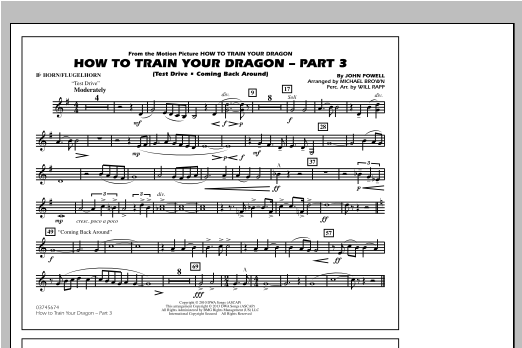 How To Train Your Dragon Part 3 - Bb Horn/Flugelhorn Sheet Music
