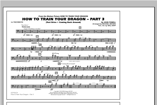 How To Train Your Dragon Part 3 - 1st Trombone Sheet Music