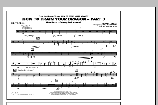 How To Train Your Dragon Part 3 - Electric Bass Sheet Music