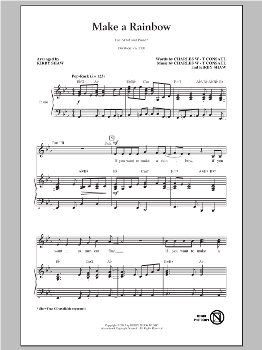 Make A Rainbow Sheet Music