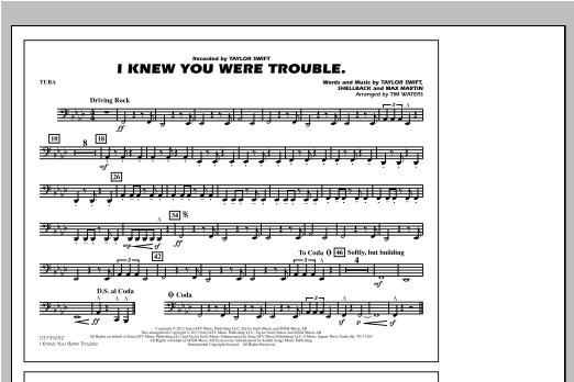 I Knew You Were Trouble - Tuba Sheet Music