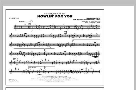 Howlin' For You - Eb Alto Sax Sheet Music