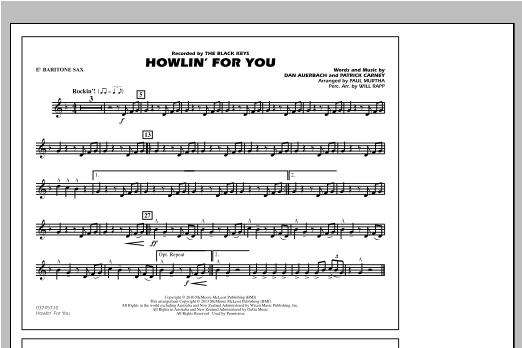 Howlin' For You - Eb Baritone Sax Sheet Music