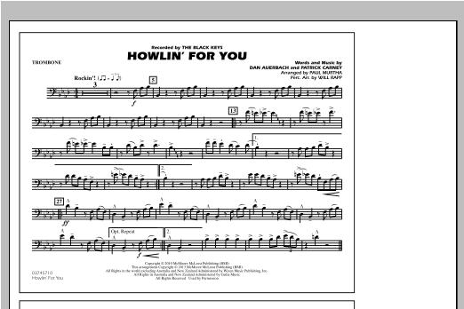 Howlin' For You - Trombone Sheet Music