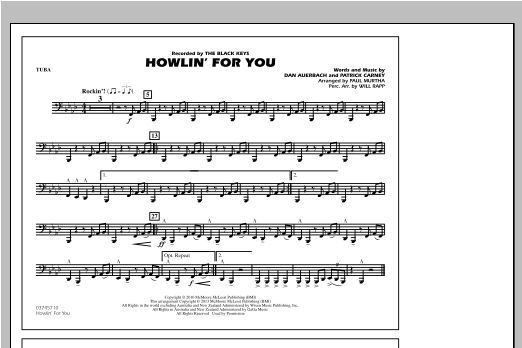 Howlin' For You - Tuba Sheet Music