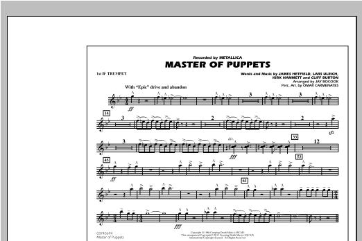 Master of Puppets - 1st Bb Trumpet Sheet Music