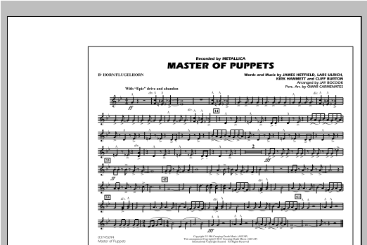 Master of Puppets - Bb Horn/Flugelhorn Sheet Music