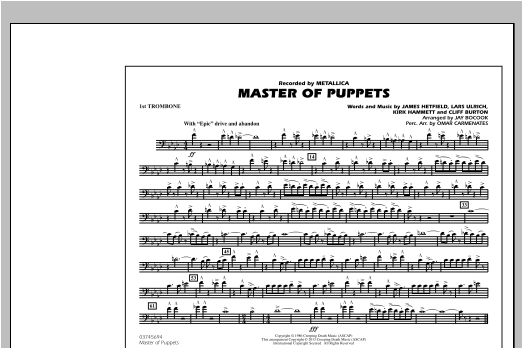 Master of Puppets - 1st Trombone Sheet Music