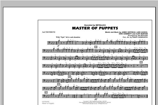 Master of Puppets - 2nd Trombone Sheet Music
