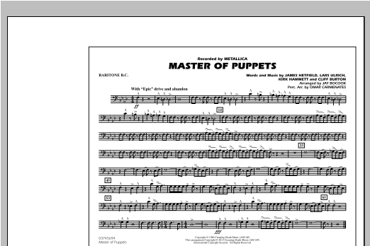 Master of Puppets - Baritone B.C. Sheet Music