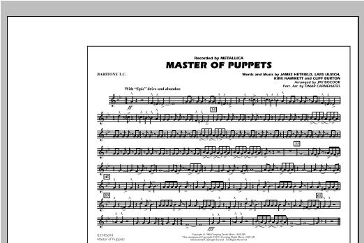 Master of Puppets - Baritone T.C. Sheet Music