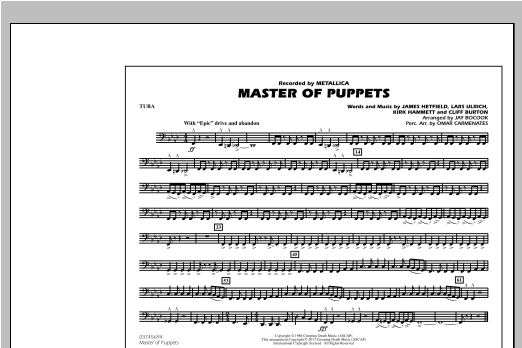 Master of Puppets - Tuba Sheet Music