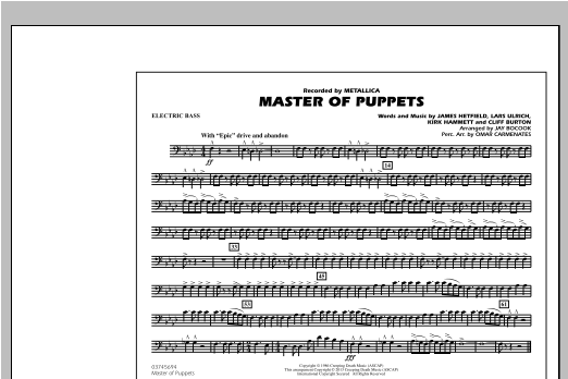 Master of Puppets - Electric Bass Sheet Music