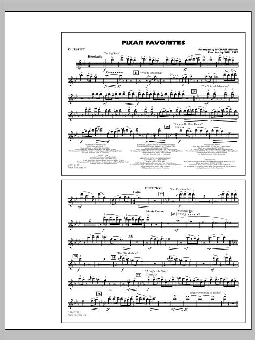 Pixar Favorites - Flute/Piccolo Sheet Music