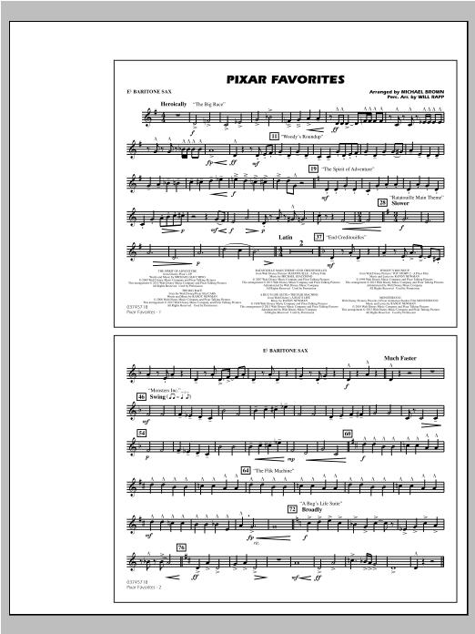 Pixar Favorites - Eb Baritone Sax (Marching Band)