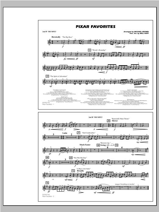 Pixar Favorites - 2nd Bb Trumpet Sheet Music