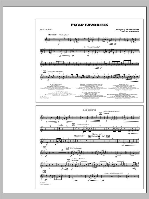 Pixar Favorites - 3rd Bb Trumpet Sheet Music