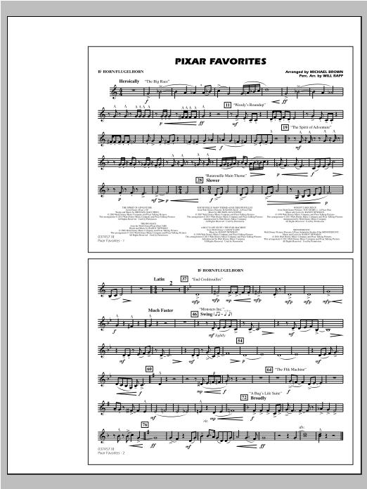Pixar Favorites - Bb Horn/Flugelhorn (Marching Band)