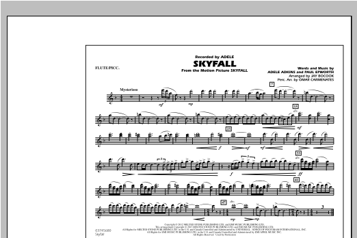 Skyfall - Flute/Piccolo (Marching Band)