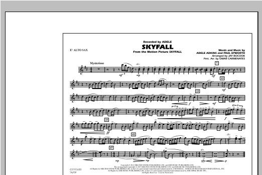 Skyfall - Eb Alto Sax Sheet Music