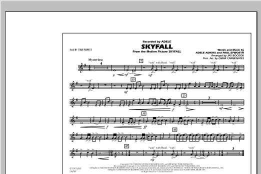 Skyfall - 3rd Bb Trumpet (Marching Band)
