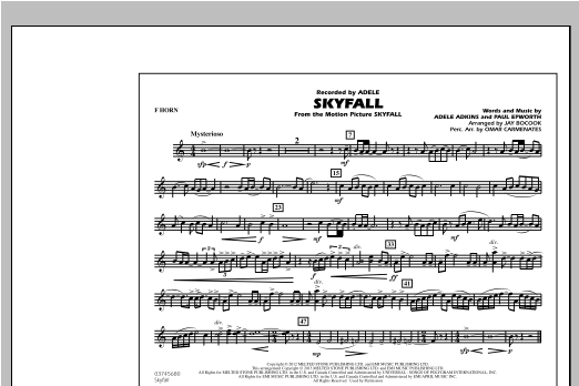Skyfall - F Horn (Marching Band)