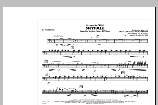 Skyfall - 1st Trombone Digitale Noten