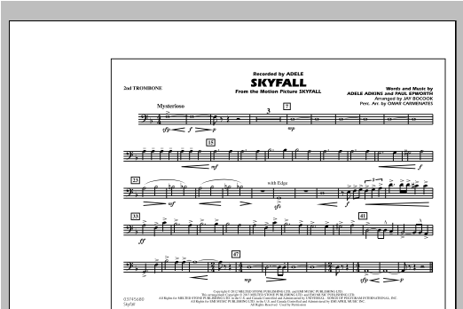 Skyfall - 2nd Trombone Partituras Digitales