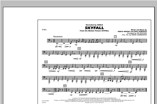 Skyfall - Tuba Sheet Music