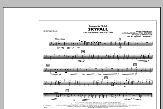 Skyfall - Electric Bass Sheet Music