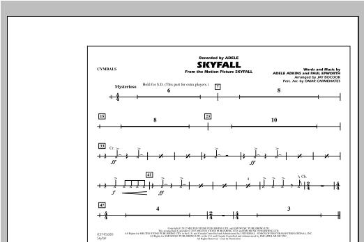 Skyfall - Cymbals Sheet Music